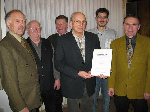 Martin Brachthäuser für 40 Jahre ausgezeichnet