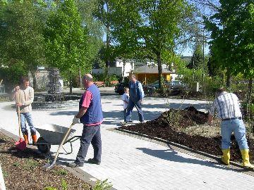 Arbeiten am Dorfbrunnen fast abgeschlossen