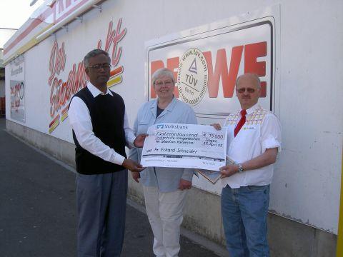 Warenspenden: im Wert von 15.000 Euro für Indienhilfe
