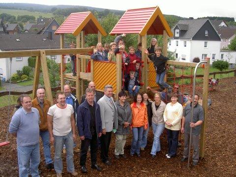 Neuer Kinderspielplatz in Irmgarteichen