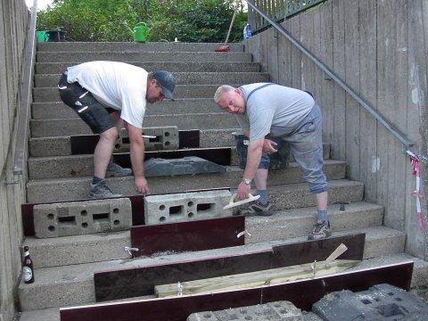 Kirchtreppe renoviert