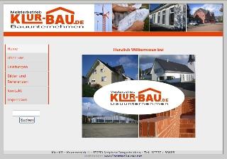 Klur KG – Bauunternehmen Klur aus Irmgarteichen mit neuer Internetseite