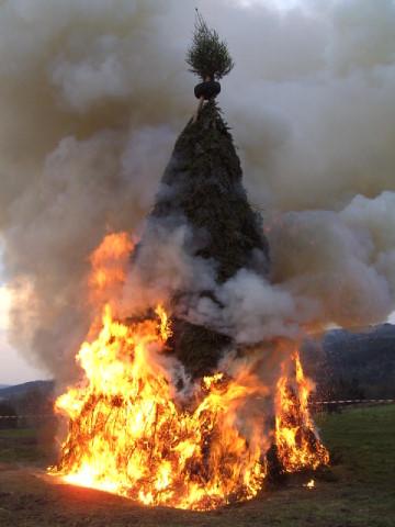 Osterfeuer auch 2009 abgebrannt