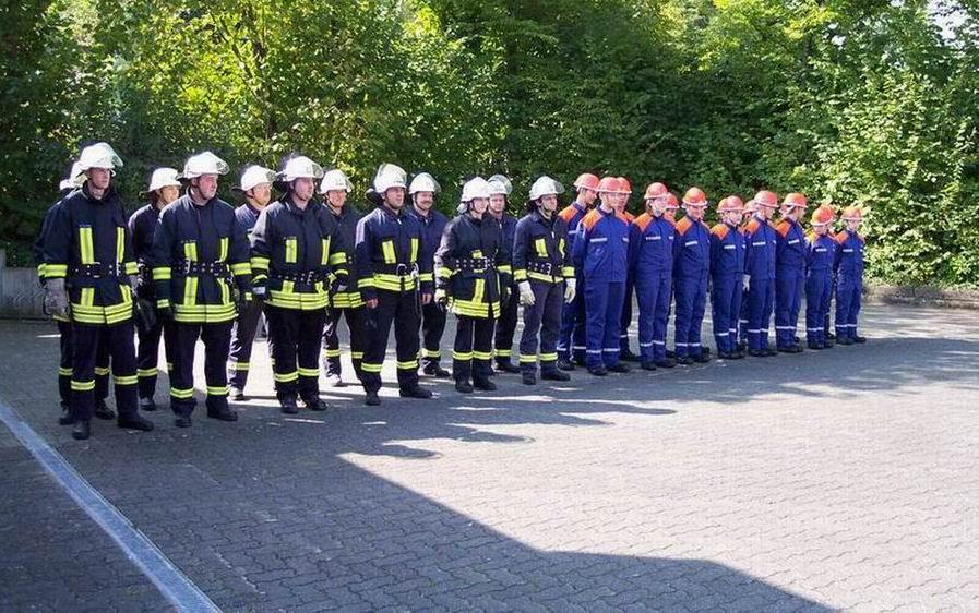 Schlussübung der Feuerwehr Irmgarteichen