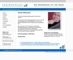 Steuerberater Rüdiger Stahl mit neuer Internetseite