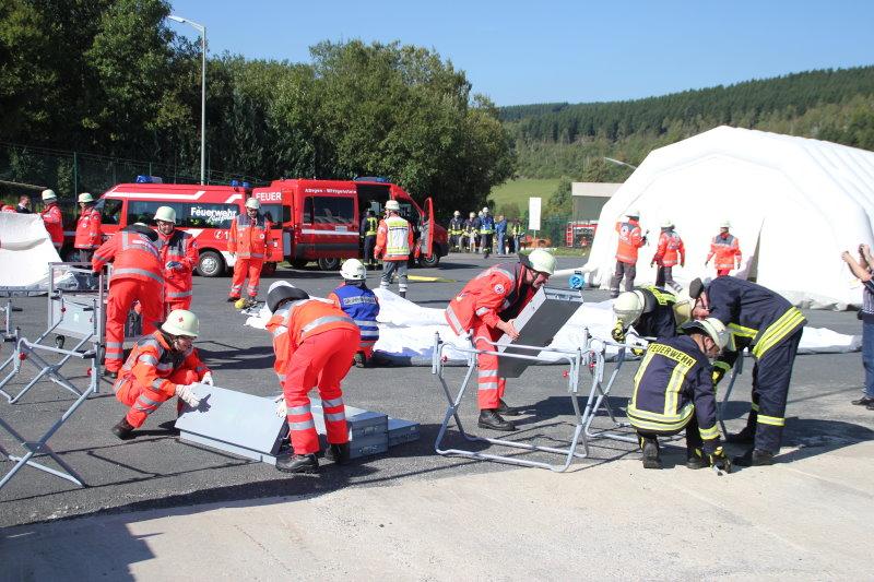 Katastrophenschutz-Großübung in der Stadt Netphen