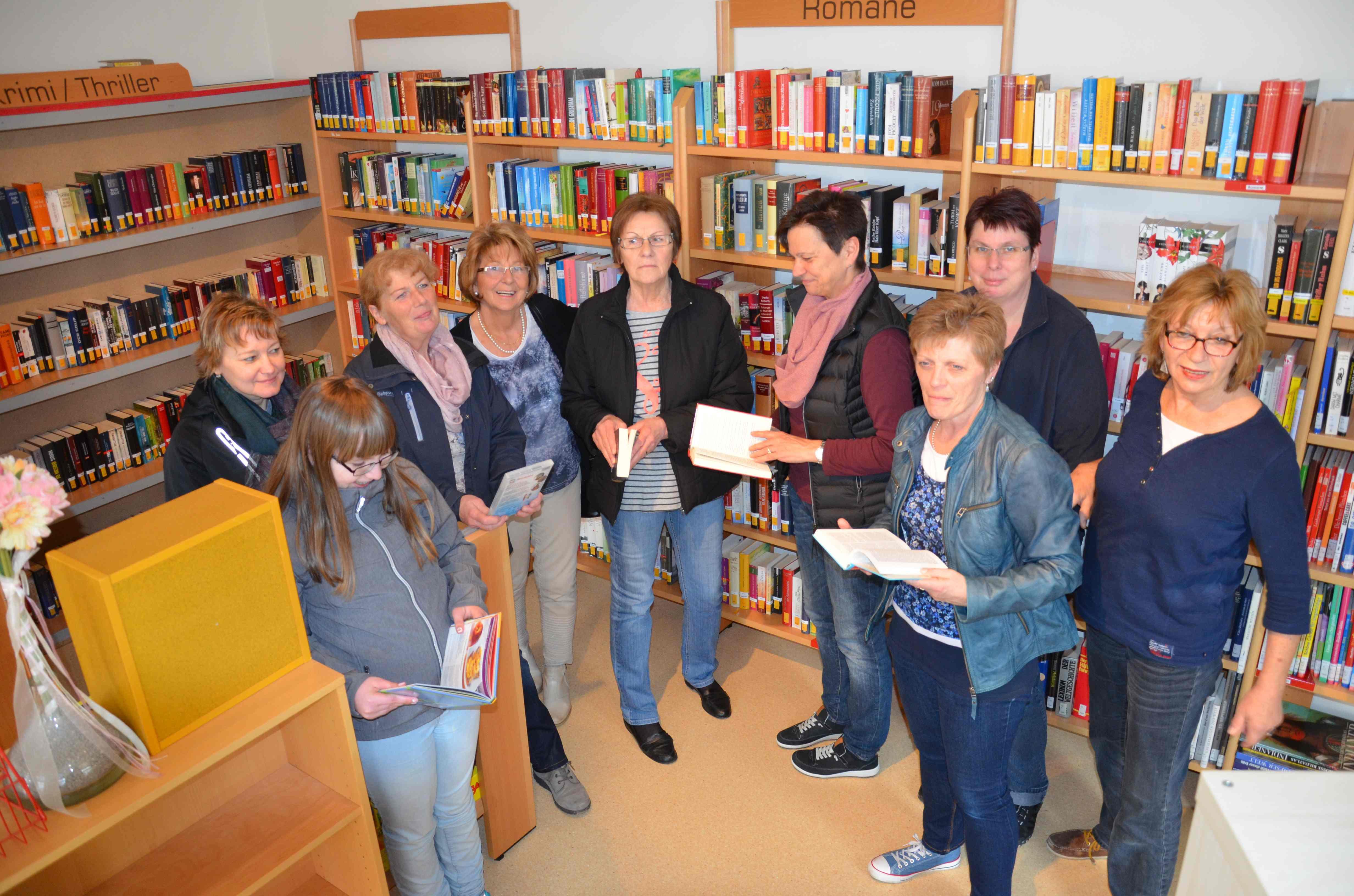 Bücherei Irmgarteichen in neuen Räumen