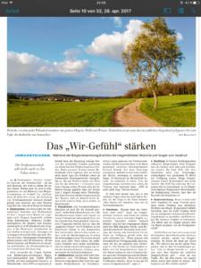 "Bürgerversammlung: Das ""Wir-Gefühl"" stärken"