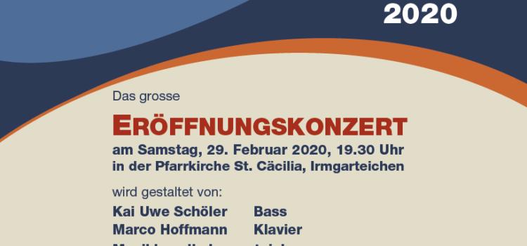 Der Start ins Jubiläumsjahr 2020: Eröffnungskonzert